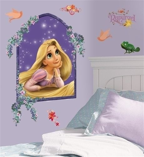 Disneys TANGLED wall stickers MURAL decals 22x17 big room decor