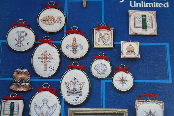 CHRISTIAN SYMBOLS Patterns Cross Stitch Book 3 1982