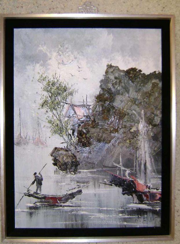 Kee Fung Ng Oil Painting on canvas, San Francisco Artist from China