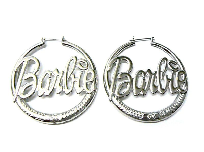 New NICKI MINAJ BARBIE Hollow Hoop Pincatch Earrings