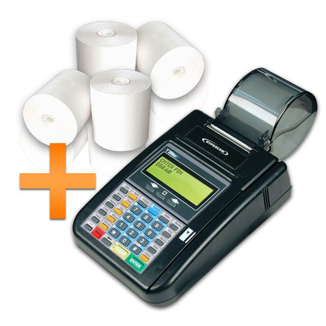 credit card terminal thermal paper Verifone credit card machine supplies including thermal paper and 2-ply paper rolls.