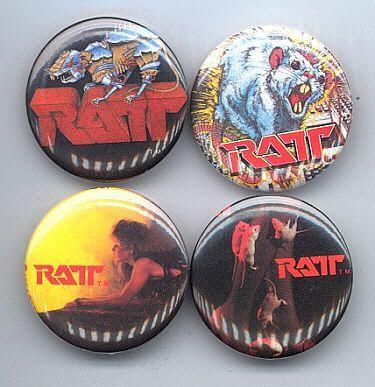 RATT Pinback Buttons Pins Badges 4 Different near MINT